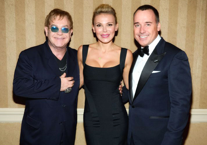 Elton John, Sanela Diana Jenkins, David Furnish