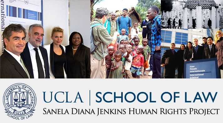 Logo for the Sanela Diana Jenkins Human Rights Project of the UCLA School of Law