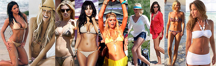 Many celebrites choose Melissa Odabash swimwear.