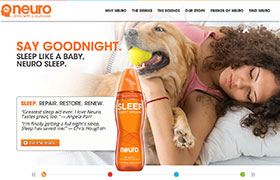 Home page of the Drink Neuro Corporate Site at http://www.drinkneuro.com
