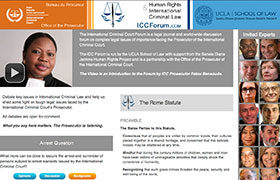 Home page of the Human Rights and Criminal Law Forum at http://iccforum.com
