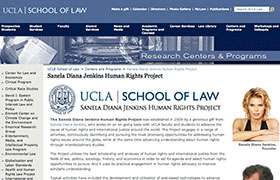 Home page of the Sanela Diana Jenkins Human Rights Project at UCLA School of Law