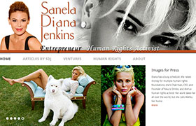 Home page of the Diana Jenkins Personal Site at http://dianajenkins.com