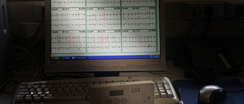 Heart Monitoring on a Computer Screen | Praćenje rada srca na monitoru